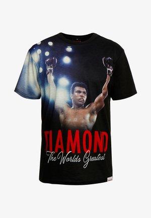 THE CHAMP SHORTSLEEVE TEE - Print T-shirt - black