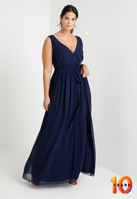 Little Mistress Curvy - ROSE NECK MAXI DRESS - Occasion wear - navy