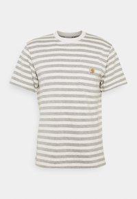 SCOTTY POCKET - Print T-shirt - white heather/grey heather