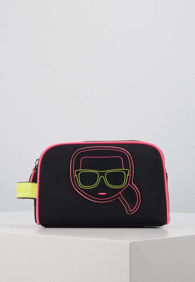 IKONIK NEON WASHBAG - Wash bag - black