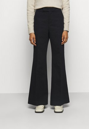 RELAXED WIDE LEG PANT - Pantalones - black