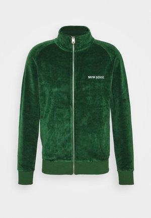 TRACK JACKET UNISEX - Sweat à capuche zippé - dark green