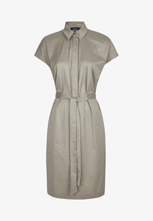 MIT GüRTELSCHLEIFE - Shirt dress - grey