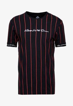 T-shirt imprimé - black/red