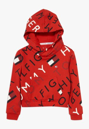 SPORTS PRINTED LOGO HOODIE - Bluza z kapturem - red