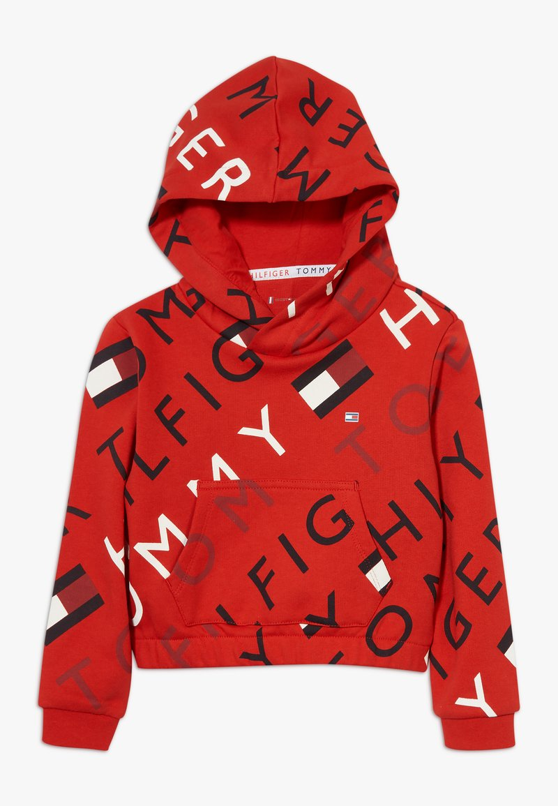 Tommy Hilfiger - SPORTS PRINTED LOGO HOODIE - Hoodie - red