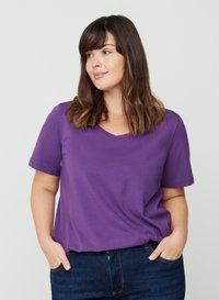 Zizzi - T-shirt basic - purple - 0