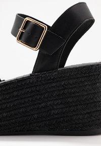 Topshop - DOVE WEDGE - Platform sandals - black - 5