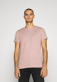 Burton Menswear London - SHORT SLEEVE CREW 3 PACK - T-shirt basic - stone/dark green/pink - 1