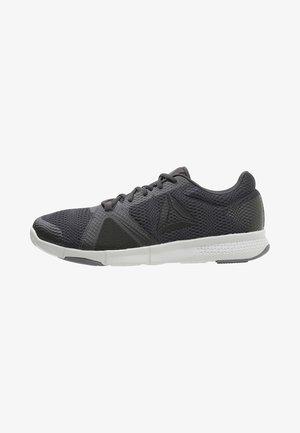 TRAINFLEX LITE - Sports shoes - coal/black/alloy/skull