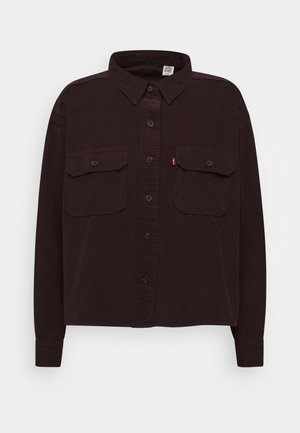 OLSEN UTILITY - Button-down blouse - bordeaux