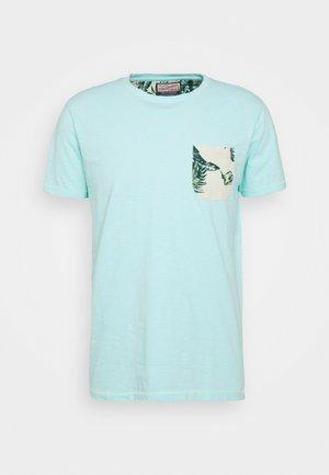 T-shirt print - frosty blue