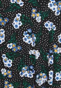 Marks & Spencer London - FLORAL SKATER - Áčková sukně - black - 2