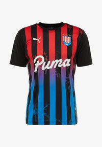 Puma - T-shirt med print - puma black/poppy red - 4