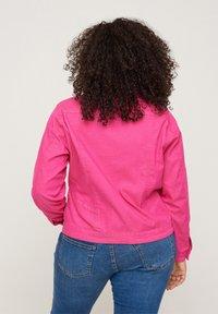 Zizzi - Denim jacket - pink - 2
