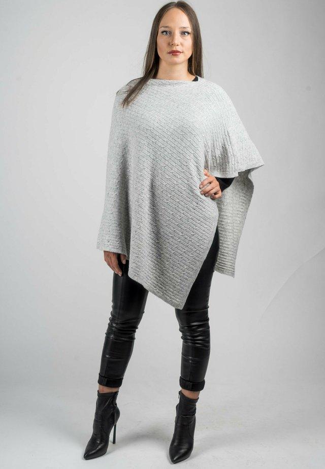 Poncho - grigio