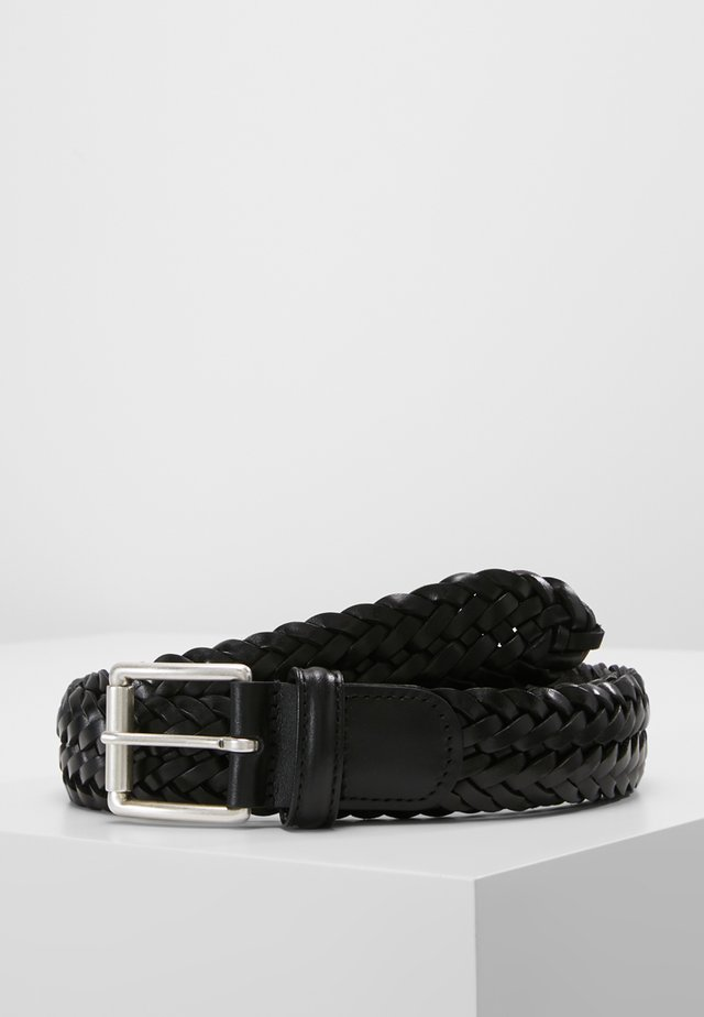 WOVEN BELT - Braided belt - black
