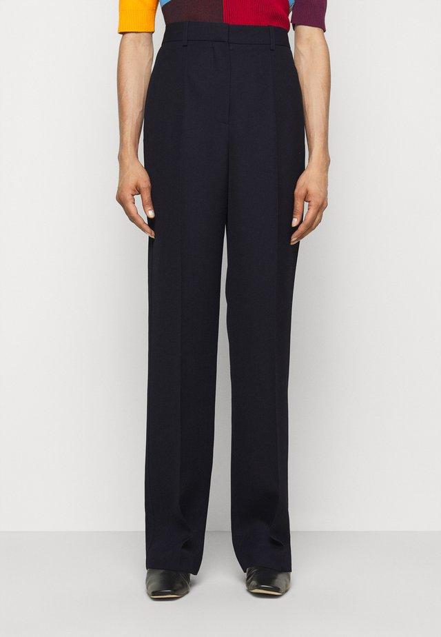 HIGH WAIST STRAIGHT LEG TROUSER - Pantaloni - dark navy