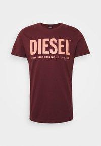 DIEGO LOGO - Print T-shirt - bordeaux