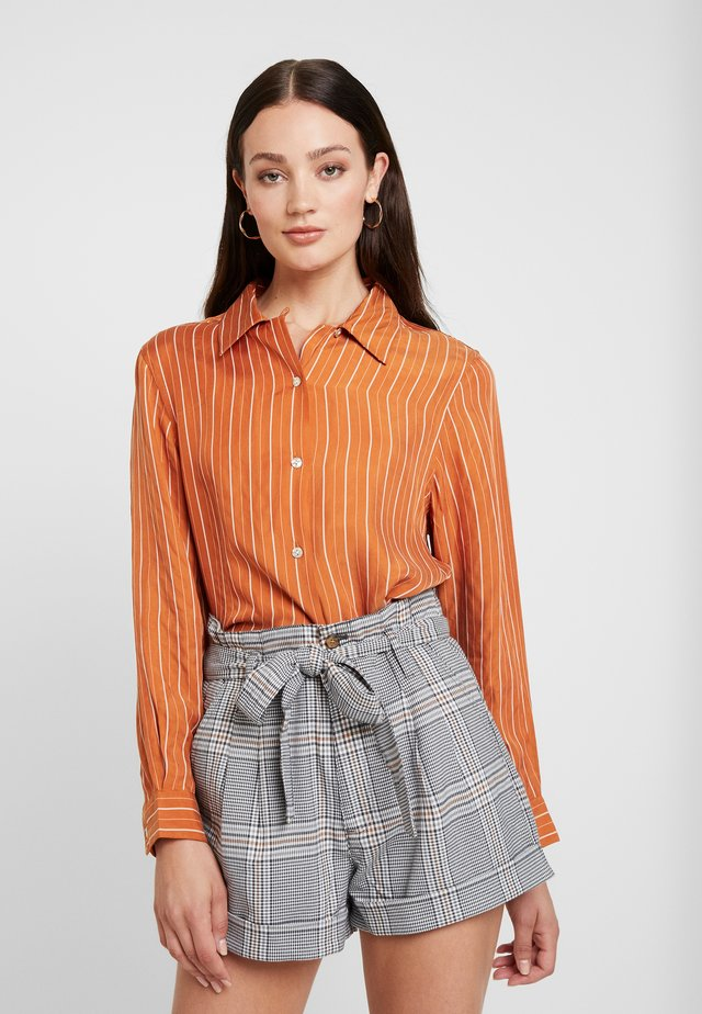RUSTY - Button-down blouse - cognac