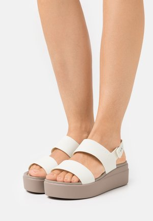 BROOKLYN LOW WEDGE - Platform sandals - oyster