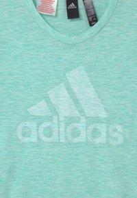 adidas Performance - UNISEX - T-shirt print - mint/white - 2