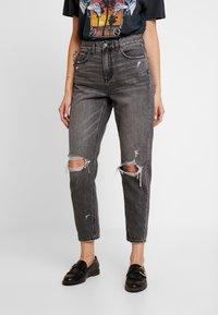 American Eagle - MOM - Jean slim - dark gray - 0