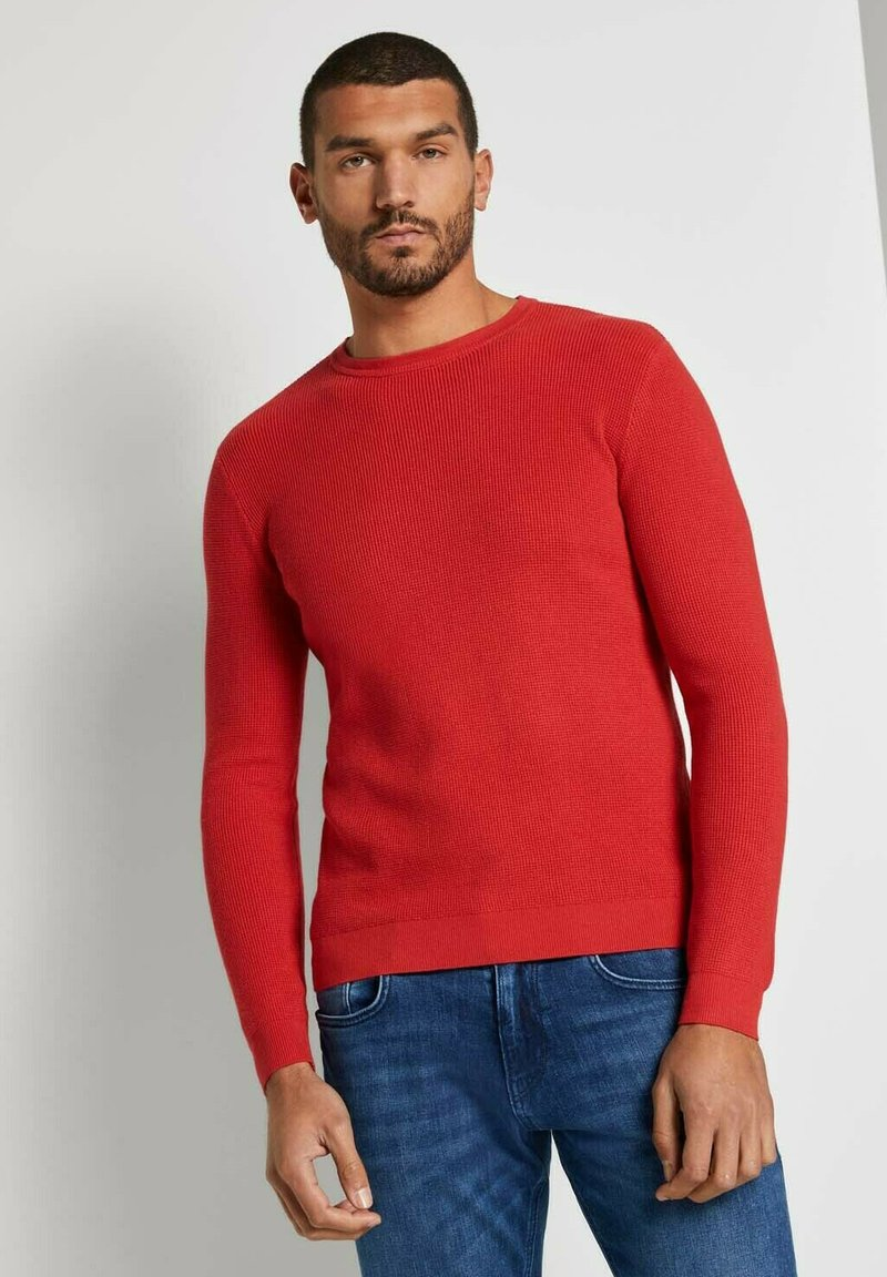TOM TAILOR - Jumper - powerful red