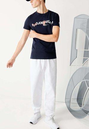 TH7543 - Print T-shirt - bleu marine / blanc