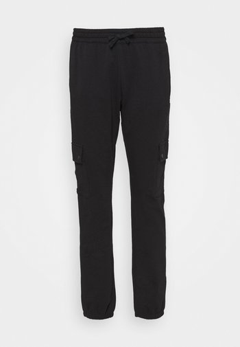 ELASTIC CUFF PANTS - Pantalones deportivos - black