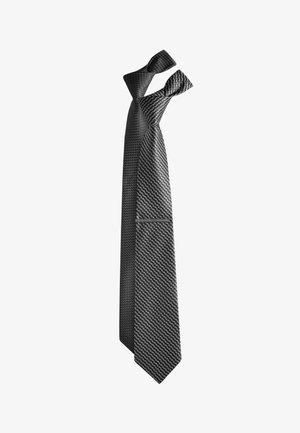 TEXTURED TIES 2 PACK WITH TIE CLIP - Corbata - black