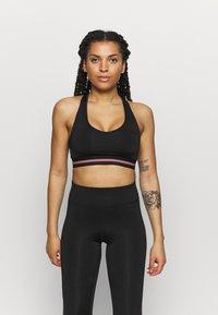 ONLY Play - ONPBAKO SPORTS BRA - Medium support sports bra - black - 0
