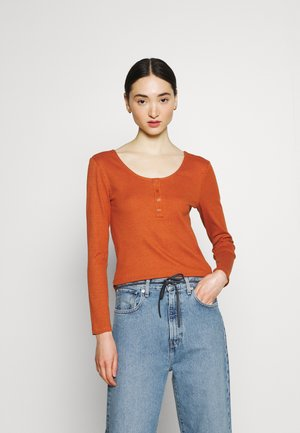 ONLSIMPLE LIFE BUTTON - Long sleeved top - ginger bread