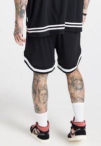 SIKSILK - AOKI BASEBALL - Shorts - black/white - 0