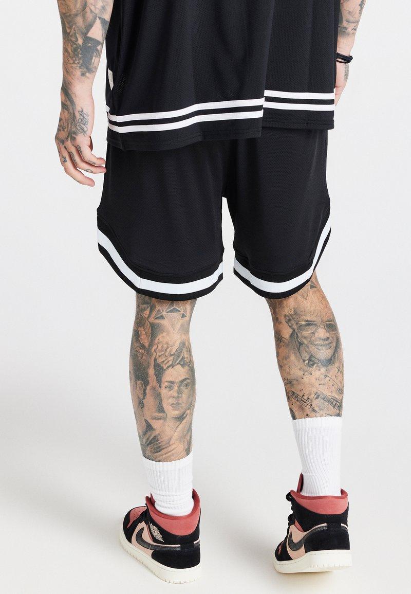 SIKSILK - AOKI BASEBALL - Shorts - black/white