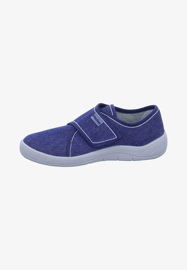 Touch-strap shoes - blau