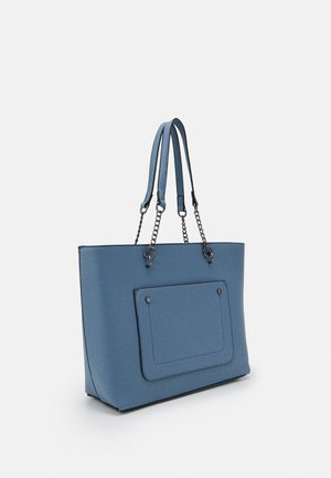 SLIP POCKET CHAIN HANDLE SHOPPER - Tote bag - cornflower blue