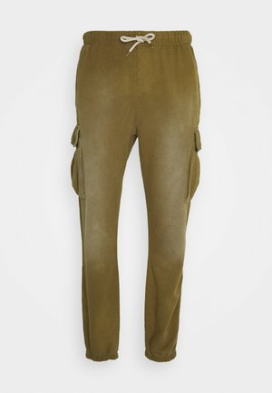 HEAVY WASHED - Pantaloni cargo - olive