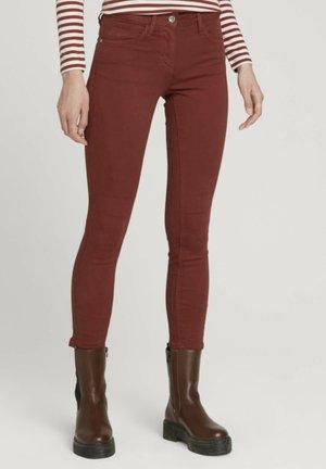 HOSEN &  ALEXA - Slim fit jeans - dark maroon red