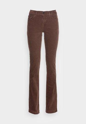 FALLON - Trousers - ribcord midnight brown