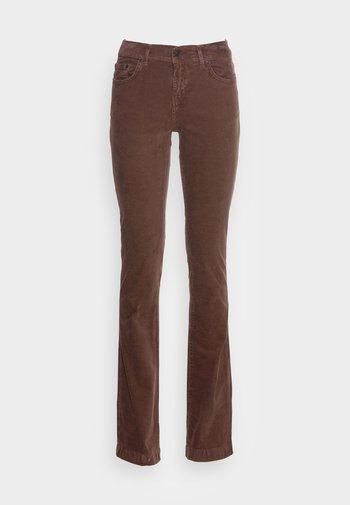FALLON - Bukse - ribcord midnight brown