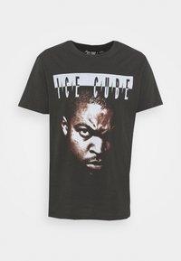 COLLAB MUSIC - Print T-shirt - washed black