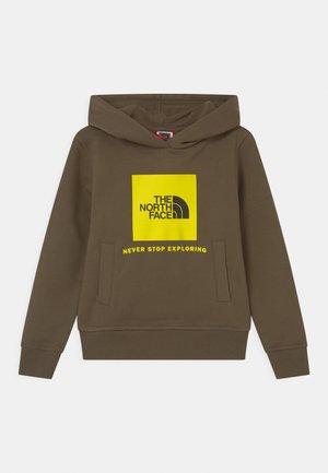 BOX HOODIE UNISEX - Sweatshirt - khaki