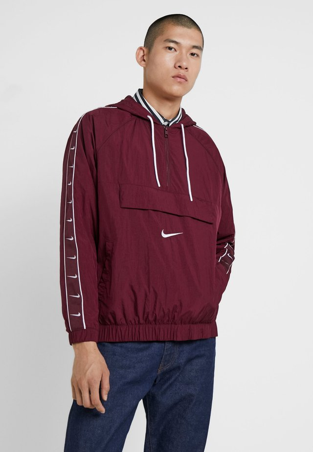 Windbreaker - night maroon/white