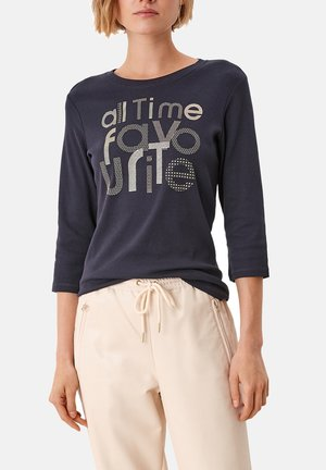 Long sleeved top - navy placed artwork
