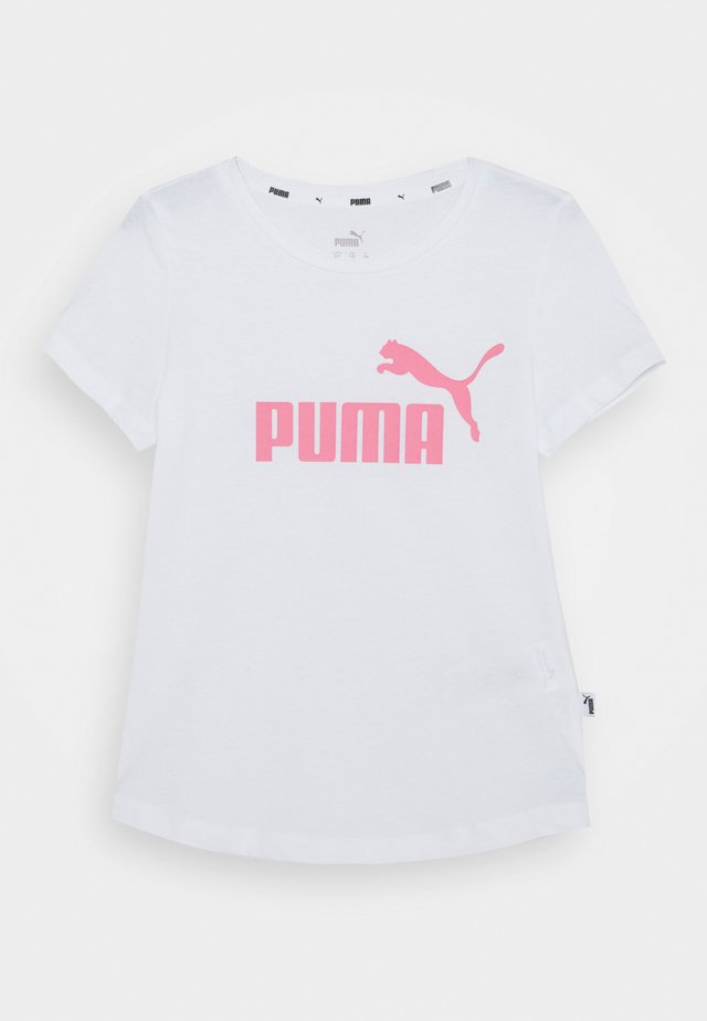 TEE - Print T-shirt - bubblegum pink/white