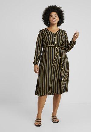 JRASLY MIDI DRESS - Day dress - black/tawny port/sunflowe