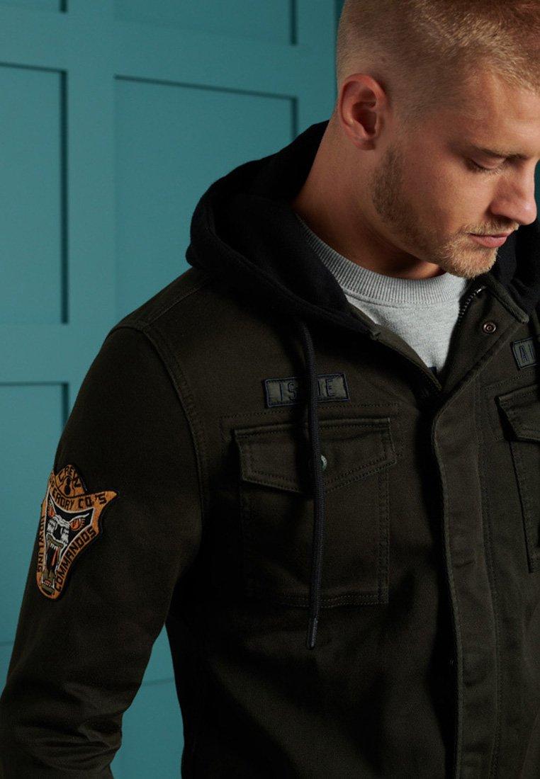 Men CORE MILITARY PATCHED - Zip-up sweatshirt