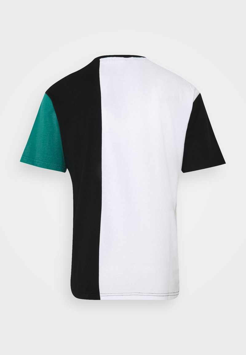 Fila BANSI BLOCKED TEE - T-Shirt print - black/teal green/bright white/cerise/schwarz MV9FKL