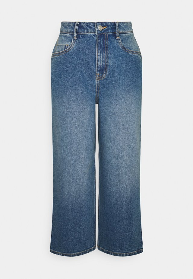 NMGIGI - Široké džíny - medium blue denim